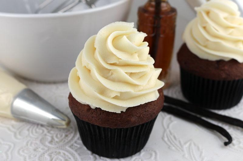Creme de Manteiga (Buttercream) Cobrindo o Cupcake