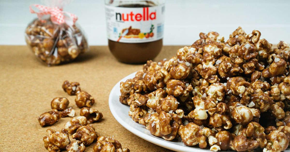 Receita de Pipoca Gourmet de Nutella