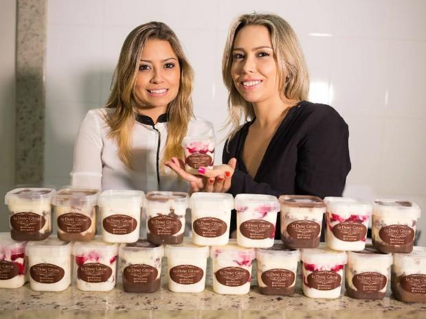 Irmãs empreendoras investem em bolo de pote